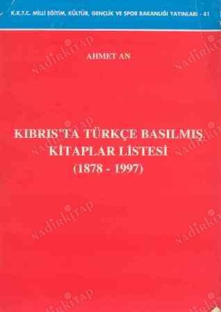 Kıbrıs'ta Türkçe Basılmış Kitaplar Listesi